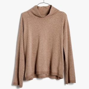 Madewell Cinematheque Mockneck Sweater Camel XS